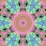 Kleurengezichten - grappige beeldverhaalachtergrond stock illustratie