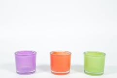 Kleurenglazen voor binnenland, decoratieconcept Stock Foto