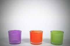 Kleurenglazen voor binnenland met zwart vignet, conc decoratie Stock Foto's