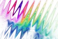 Kleurengolven op witte achtergrond Stock Afbeeldingen
