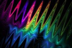 kleurengolven op zwarte achtergrond Royalty-vrije Stock Foto