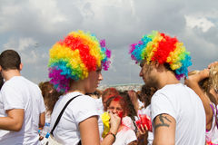 Kleurenhemel 5K Stock Foto's