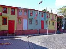 Kleurenhuizen Istanboel Stock Foto's