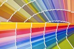 kleurenkaart Royalty-vrije Stock Foto
