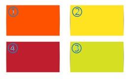 Kleurenkaarten Royalty-vrije Stock Foto's