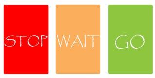 Kleurenkaarten - het EINDE WACHT GAAT stock fotografie