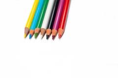 Kleurenkleurpotloden Royalty-vrije Stock Foto