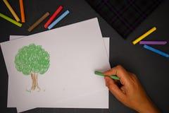 Kleurenkrijt Stock Afbeeldingen