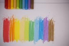 Kleurenkrijt Stock Foto's