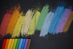 Kleurenkrijt Stock Afbeelding