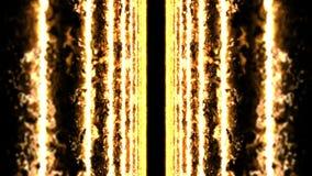 Kleurenlaserstralen op zwarte achtergrond Tunnel Mooie stralen Animatie van de donder de lichte lijn stock videobeelden