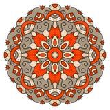 Kleurenmandala Oostelijk symmetrisch cirkelpatroon Royalty-vrije Stock Foto's