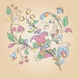 Kleurenmotief van bloemen Stock Afbeeldingen