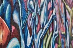 Kleurenmuur op het strand van Venetië stock foto's