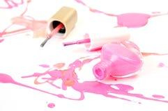 Kleurennagellak Stock Foto's