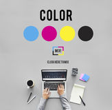 Kleurenontwerp Modelart paint pigment motion concept Royalty-vrije Stock Foto