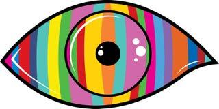 Kleurenoog stock foto