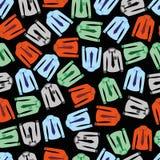 Kleurenoverhemden met band naadloos donker patroon eps10 Stock Foto