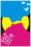 Kleurenpaar die CMYK controleren Stock Afbeelding