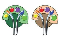 Kleurenpalet als boom Royalty-vrije Stock Afbeeldingen