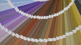 Kleurenpalet in bruine en purpere tonen Eindemotie stock footage