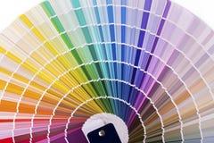 Kleurenpalet, catalogus met de steekproeven van de ontwerpverf Stock Fotografie