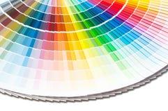 Kleurenpalet, kleurengids, verfsteekproeven, kleurencatalogus Royalty-vrije Stock Foto's