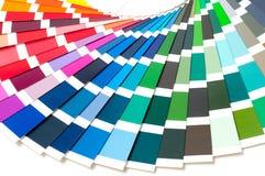 Kleurenpalet, kleurengids, verfsteekproeven, kleurencatalogus Stock Fotografie