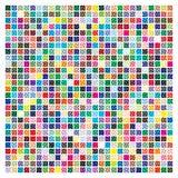 Kleurenpalet met halftone patroon 729 verschillende kleuren vector illustratie