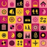 Kleurenpatroon royalty-vrije illustratie