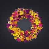 Kleurenpictogrammen Stock Afbeelding