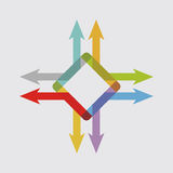 Kleurenpijlen, abstracte illustratie Royalty-vrije Stock Foto