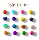 Kleurenplasticine op een witte achtergrond wordt geplaatst die 3d vectorillustratie Royalty-vrije Stock Foto