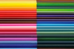 Kleurenpotloden Royalty-vrije Stock Foto's