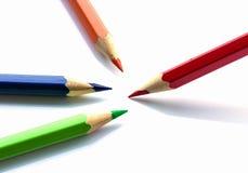 Kleurenpotloden op witte achtergrond Royalty-vrije Stock Fotografie