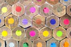 Kleurenpotloden, textuur Royalty-vrije Stock Fotografie