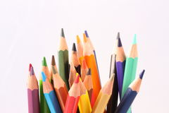 Kleurenpotlood met witte achtergrond Stock Afbeeldingen