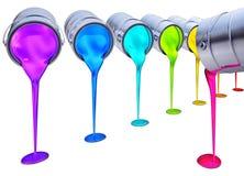 Kleurenpotten Royalty-vrije Stock Afbeeldingen