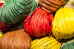 Kleurenraffia Stock Foto's