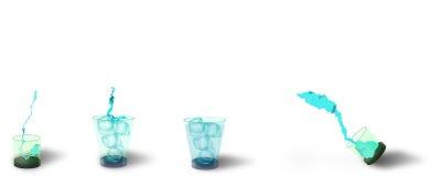 Kleurenreeks glazen Stock Afbeelding