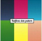 Kleurenreeks van halftone retro achtergrond Pop-artillustratie Royalty-vrije Stock Afbeelding