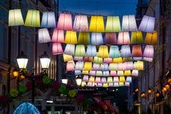 Kleurenschaduwen op de straat Royalty-vrije Stock Afbeelding