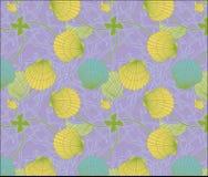 Kleurenshell patroonreeks Stock Foto