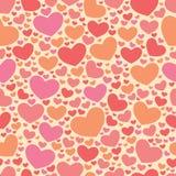 Kleurensnoepje Al patroon van Valentine van de Minnaarsdag Stock Illustratie