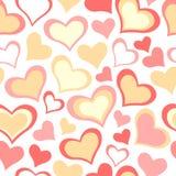 Kleurensnoepje Al patroon van Valentine van de Minnaarsdag Naadloze vector ro Stock Illustratie