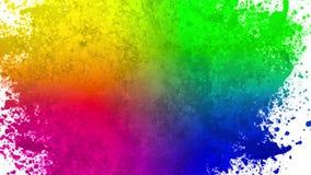 Kleurenspatten stock videobeelden