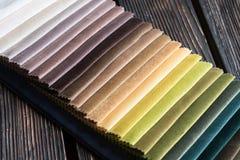 Kleurensteekproeven van een stof Royalty-vrije Stock Fotografie