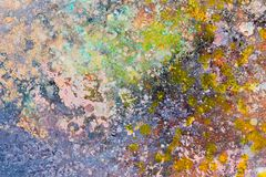 Kleurentextuur Fragment van kunstwerk Vlekken van olieverf Brushstr stock illustratie