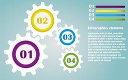 Kleurentoestellen Infographics Royalty-vrije Stock Afbeeldingen