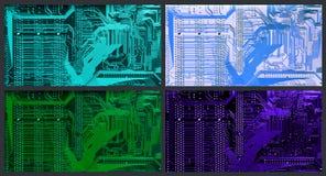 Kleurenvarianten van gedrukte kring Stock Afbeelding